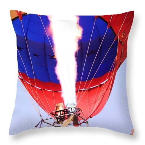 Fire Throw Pillow featuring the photograph Fired Up by Caroline Lomeli