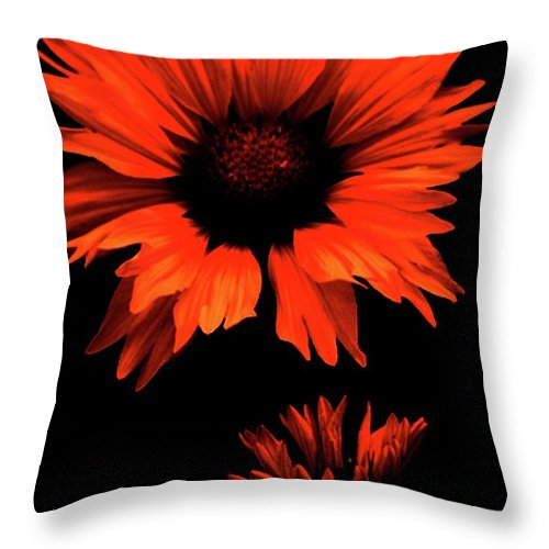 Throw Pillow featuring the photograph Fired Up by The Artist Project