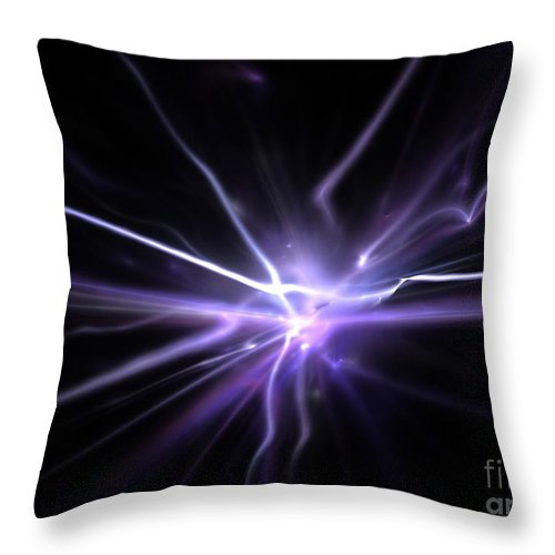 Abstract Throw Pillow featuring the digital art Firefly by Kim Sy Ok