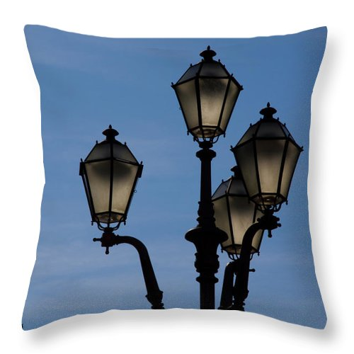 Firenze Throw Pillow featuring the photograph First Light by Roger Mullenhour