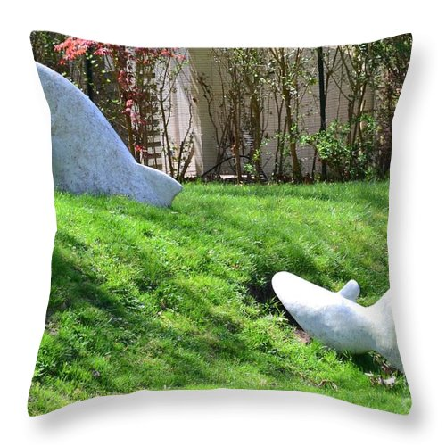 Fish Throw Pillow featuring the photograph Fish Out Of Water by Artie Wallace