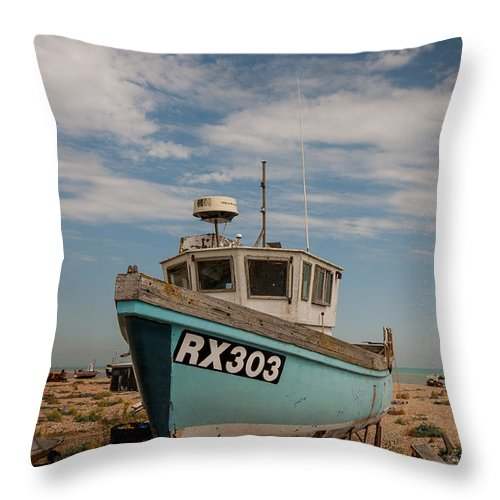 Boat Throw Pillow featuring the photograph Fishing Boat by Dawn OConnor