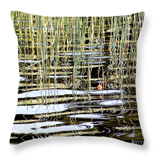 Bobber Throw Pillow featuring the photograph Fishy Fishy In The Lake ... by Angie Rea