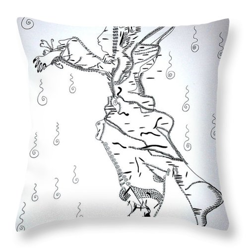 Jesus Throw Pillow featuring the Flamenco Dance - Spain by Gloria Ssali