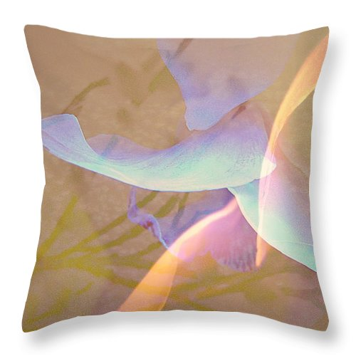 Abstract Throw Pillow featuring the photograph Flight by Shirley Sirois