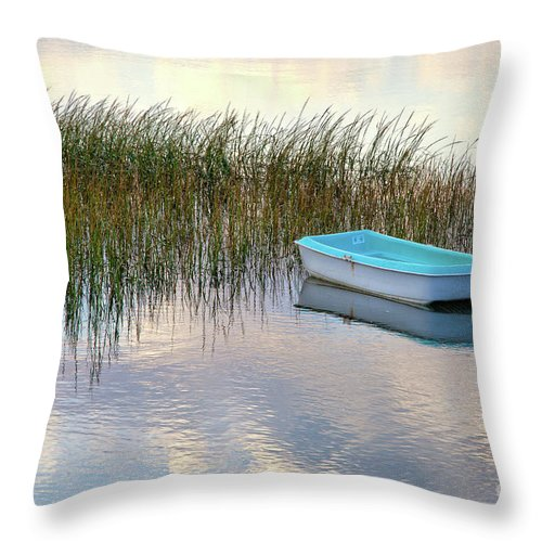 Barnstable County Throw Pillow featuring the photograph Floating In Clouds by Susan Cole Kelly