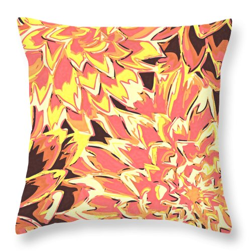 Flowers Throw Pillow featuring the photograph Floral Abstraction 18 by Sumit Mehndiratta