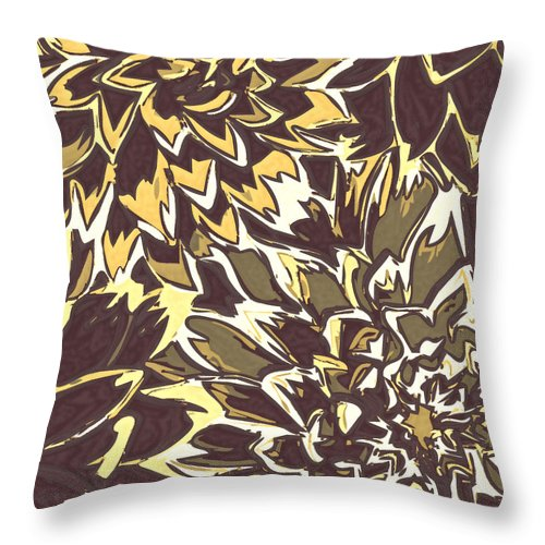 Flowers Throw Pillow featuring the photograph Floral Abstraction 21 by Sumit Mehndiratta