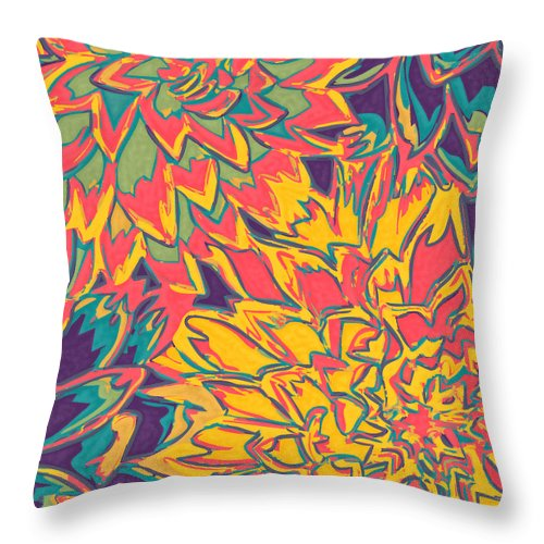 Flowers Throw Pillow featuring the photograph Floral Abstraction 22 by Sumit Mehndiratta