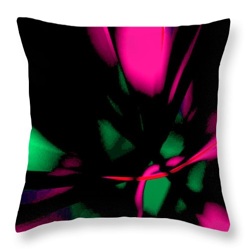 Abstract Expressionism Throw Pillow featuring the digital art Floral Ecstasy II by John Neumann