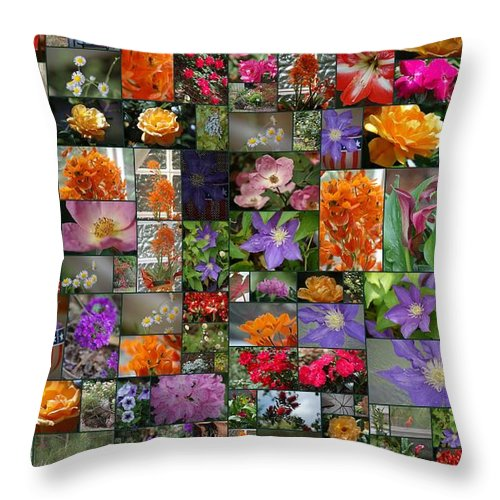 Florals Throw Pillow featuring the photograph Florals by Donna Bentley