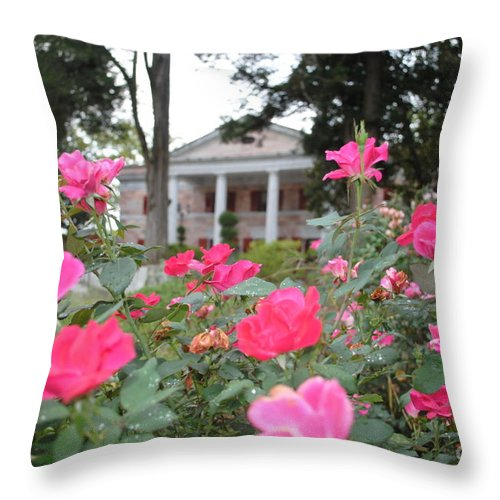 Tate Throw Pillow featuring the photograph Flowers Of Tate by Jost Houk