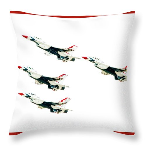 Airshow Throw Pillow featuring the photograph Flyby by Greg Fortier