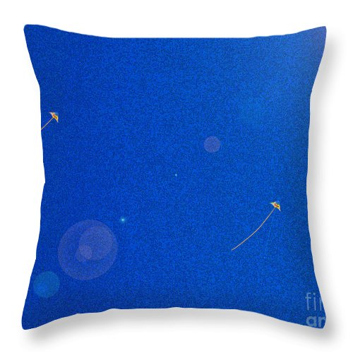 First Star Art Throw Pillow featuring the photograph Flying Kites by First Star Art