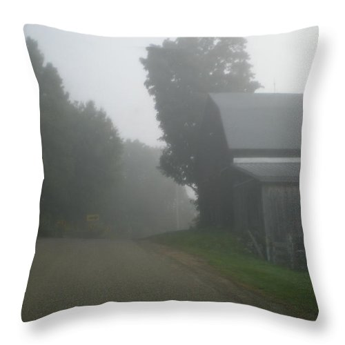 Farm Throw Pillow featuring the photograph Foggy Morn by Donald Black