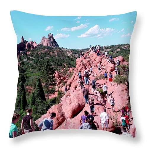 Migration Throw Pillow featuring the digital art Follower's Migration by Barkley Simpson