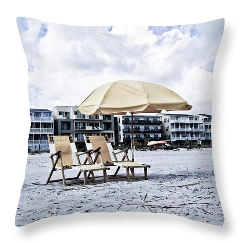 Folly Beach Throw Pillow featuring the photograph Folly Beach by Jessica Brawley