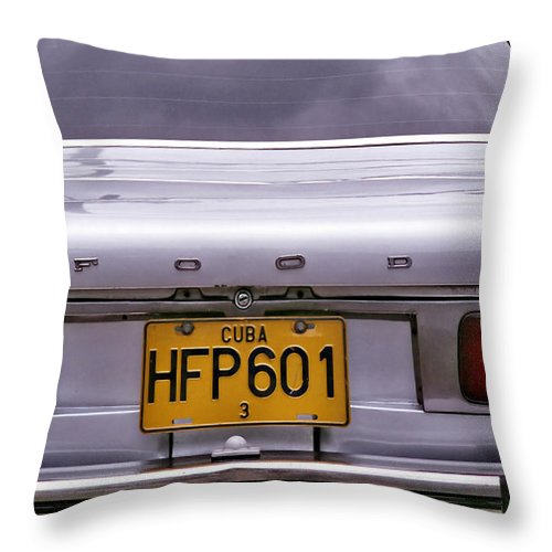 Havana Throw Pillow featuring the photograph Food Ford by Andrew Fare