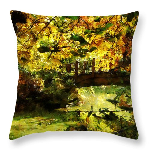 Foot Bridge Throw Pillow featuring the photograph Foot Bridge by Susan Savad