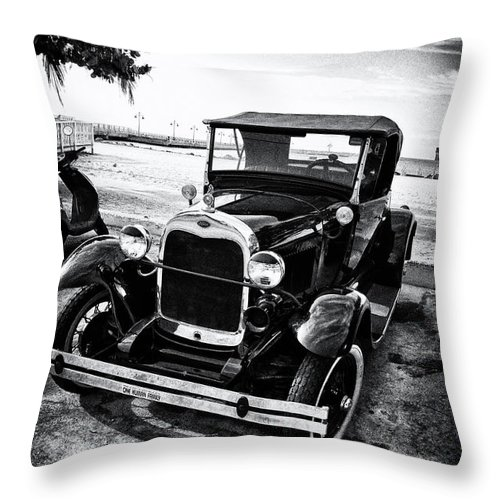 Ford Throw Pillow featuring the photograph Ford Model T Film Noir by Bill Cannon