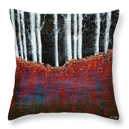 Art Throw Pillow featuring the painting Forest 1 by Mauro Celotti