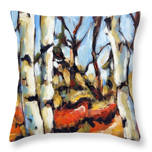 Art Throw Pillow featuring the painting Forest Edge By Prankearts by Richard T Pranke