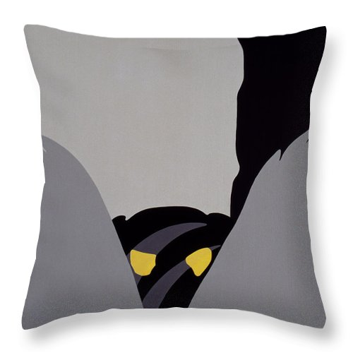 forest Of The Night Throw Pillow featuring the painting Forest Of The Night by John Bowers