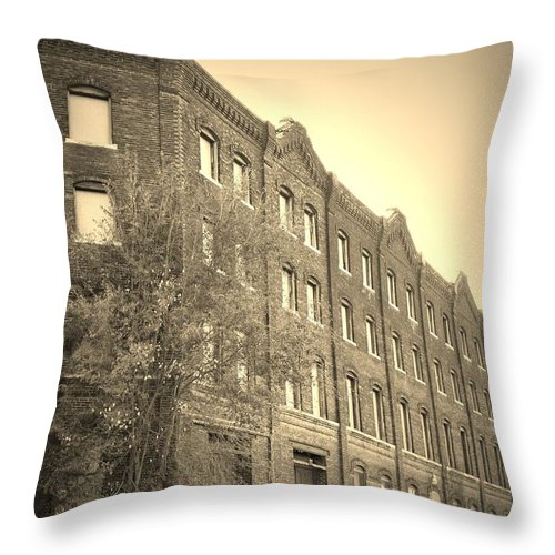 Urban Throw Pillow featuring the photograph Forgotten by Chris Berry