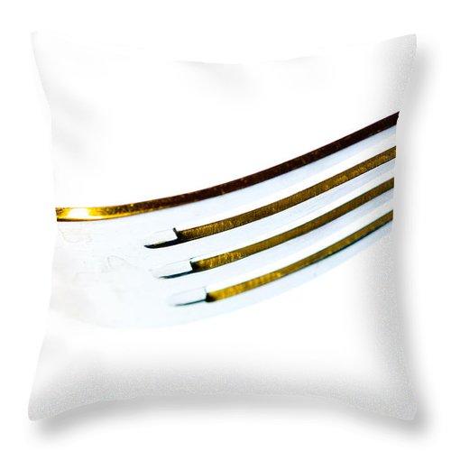 Art Throw Pillow featuring the photograph Fork by Hakon Soreide