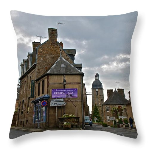 Ducey Throw Pillow featuring the photograph Forked Road by Eric Tressler