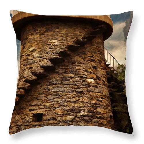 Fort Adams State Park Throw Pillow featuring the photograph Fort Adams State Park by Lourry Legarde