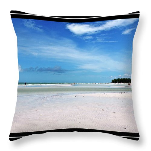 Fort Desoto Beach Throw Pillow featuring the photograph Fort Desoto Beach by Carolyn Marshall