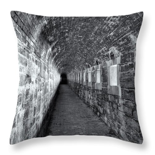 Clarence Holmes Throw Pillow featuring the photograph Fort Knox Rifle Gallery II by Clarence Holmes