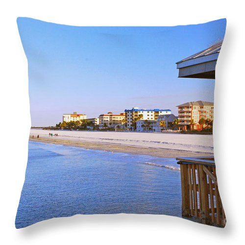Florida Throw Pillow featuring the photograph Fort Myers Beach by Gary Wonning