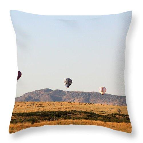 Balloon Throw Pillow featuring the photograph Four In A Row by Alycia Christine