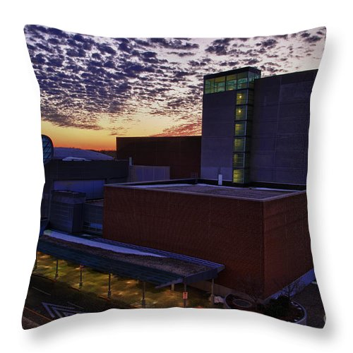 Pac Throw Pillow featuring the photograph Fox Cities Performing Arts Center by Joel Witmeyer