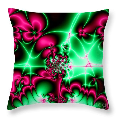 Fractals Throw Pillow featuring the photograph Fractal 4 by Rose Santuci-Sofranko