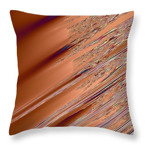 Fractal Throw Pillow featuring the digital art Fractal Strikes 2 by Ester Rogers