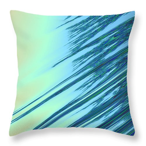 Fractal Throw Pillow featuring the digital art Fractal Strikes by Ester Rogers