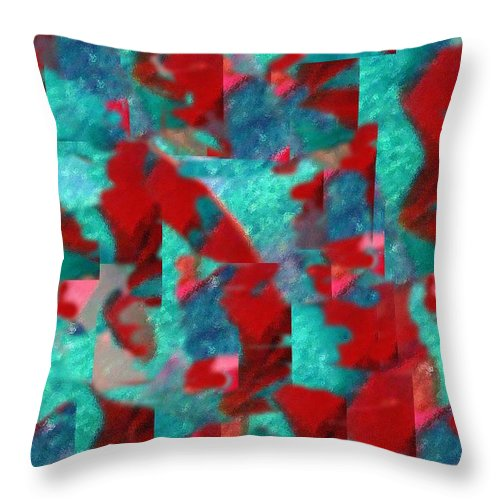 Non Duality Throw Pillow featuring the digital art Fractured Memories by Paula Andrea Pyle