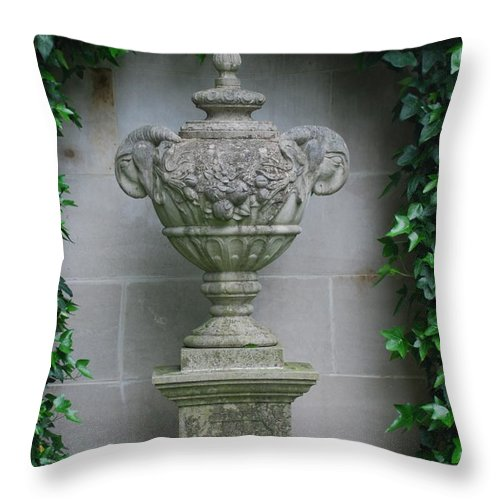 Longwood Gardens Throw Pillow featuring the photograph Framed By Ivy by Richard Bryce and Family