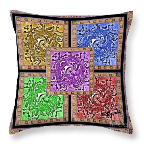Digital Throw Pillow featuring the digital art Framed by Leslie Revels