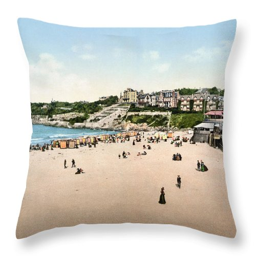 1895 Throw Pillow featuring the photograph France: Casino, C1895 by Granger