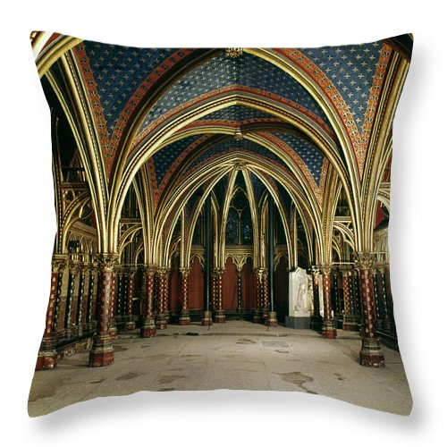 13th Century Throw Pillow featuring the photograph France: Ste. Chapelle by Granger