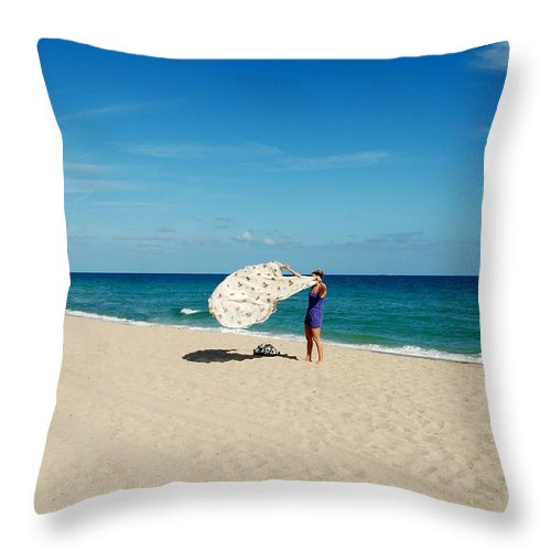 Women Throw Pillow featuring the photograph Freedom From Sand by Rob Hans