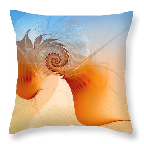 Fractal Throw Pillow featuring the digital art Freedom by Jutta Maria Pusl