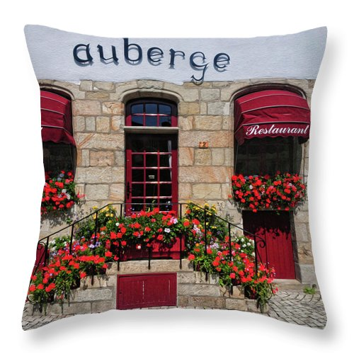French Restaurant Throw Pillow featuring the photograph French Restaurant  by Dave Mills