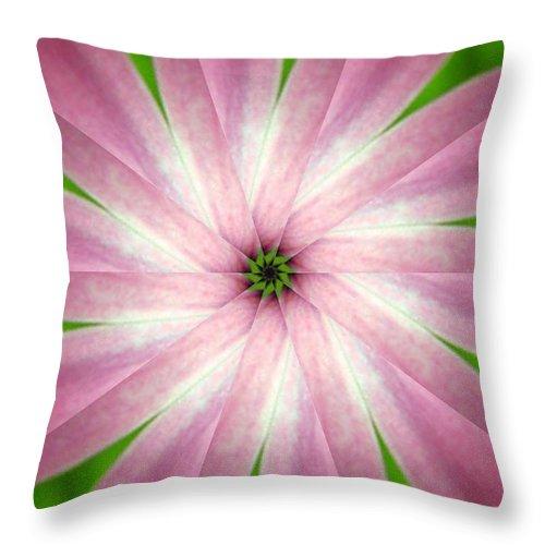 Photo Throw Pillow featuring the digital art Fresh Pink by Rhonda Barrett