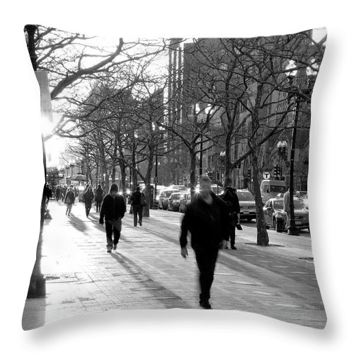 Art Throw Pillow featuring the photograph Friday In The City by Greg Fortier