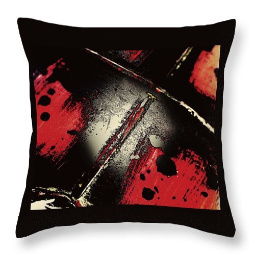 Abstract Throw Pillow featuring the photograph Friendly Fire by The Artist Project